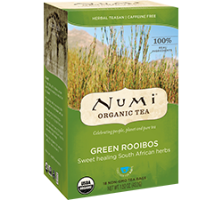 A package of Numi Organic Tea - Green Rooibos