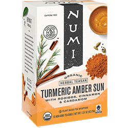 A package of Numi Organic Tea - Amber Sun
