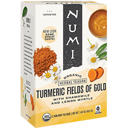 A package of Numi Organic Tea - Fields of Gold
