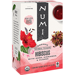 A package of Numi Organic Tea - Hibiscus (Embrace)