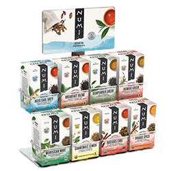 A package of Numi Organic Tea - 8-Count Display Rack