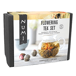 A package of Numi Organic Tea - Flowering Tea™ Set in Bamboo