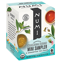 This is the picture of Mini Sampler under the category NumiTeaStore@Gifts@StockingStuffers in Numi Organic Tea. Click to add to cart.