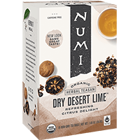 This is the picture of Dry Desert Lime™ under the category NumiTeaStore@IcedTea@Teabags in Numi Organic Tea. Click to add to cart.