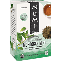This is the picture of Moroccan Mint under the category NumiTeaStore@IcedTea@Teabags in Numi Organic Tea. Click to add to cart.
