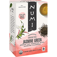 This is the picture of Jasmine Green under the category NumiTeaStore@Teabag@Green in Numi Organic Tea. Click to add to cart.