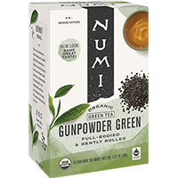 This is the picture of Gunpowder Green under the category NumiTeaStore@IcedTea@Teabags in Numi Organic Tea. Click to add to cart.
