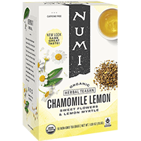 This is the picture of Chamomile Lemon under the category NumiTeaStore@IcedTea@Teabags in Numi Organic Tea. Click to add to cart.