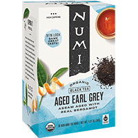 This is the picture of Aged Earl Grey™ under the category NumiTeaStore@IcedTea@Teabags in Numi Organic Tea. Click to add to cart.