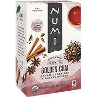 This is the picture of Golden Chai™ under the category NumiTeaStore@IcedTea@Teabags in Numi Organic Tea. Click to add to cart.