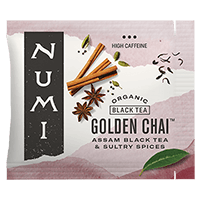 This is the picture of Golden Chai™ under the category NumiTeaStore@Bulk@Black in Numi Organic Tea. Click to add to cart.