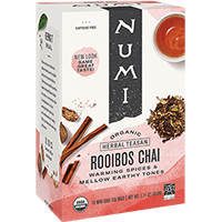 This is the picture of Rooibos Chai under the category NumiTeaStore@IcedTea@Teabags in Numi Organic Tea. Click to add to cart.