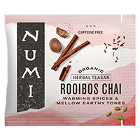 This is the picture of Rooibos Chai under the category NumiTeaStore@Bulk@Herbal in Numi Organic Tea. Click to add to cart.