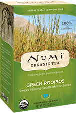 This is the picture of Green Rooibos under the category NumiTeaStore@Teabag in Numi Organic Tea. Click to add to cart.