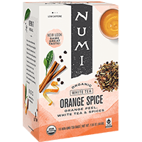 This is the picture of Orange Spice under the category NumiTeaStore@FairTrade@White in Numi Organic Tea. Click to add to cart.