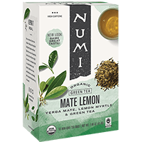 This is the picture of Mate Lemon under the category NumiTeaStore@IcedTea@Teabags in Numi Organic Tea. Click to add to cart.