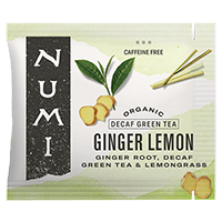 This is the picture of Decaf Ginger Lemon under the category NumiTeaStore@Bulk@Green in Numi Organic Tea. Click to add to cart.