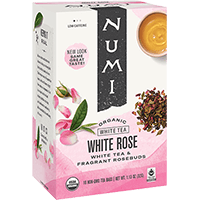 This is the picture of White Rose under the category NumiTeaStore@IcedTea@Teabags in Numi Organic Tea. Click to add to cart.