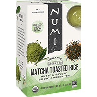 This is the picture of Matcha Toasted Rice under the category NumiTeaStore@ByType@Green in Numi Organic Tea. Click to add to cart.