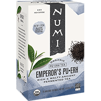 This is the picture of Emperor's Pu·erh under the category NumiTeaStore@IcedTea@Teabags in Numi Organic Tea. Click to add to cart.