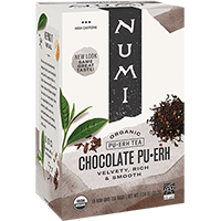 This is the picture of Chocolate Pu·erh under the category NumiTeaStore@ByType@Puerh in Numi Organic Tea. Click to add to cart.