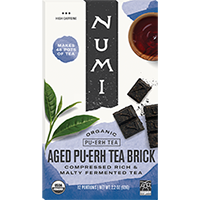 This is the picture of Aged Pu·erh Tea Brick under the category NumiTeaStore@ByType@Puerh in Numi Organic Tea. Click to add to cart.