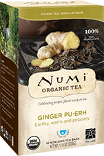 This is the picture of Ginger Pu·erh under the category NumiTeaStore@ByType@Puerh in Numi Organic Tea. Click to add to cart.
