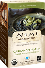 This is the picture of Cardamom Pu·erh under the category NumiTeaStore@ByType@Puerh in Numi Organic Tea. Click to add to cart.