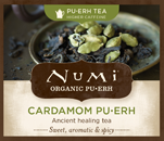 This is the picture of Cardamom Pu·erh under the category NumiTeaStore@Bulk@Puerh in Numi Organic Tea. Click to add to cart.