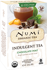 This is the picture of Chocolate Mint under the category NumiTeaStore@ByType@Indulgent in Numi Organic Tea. Click to add to cart.