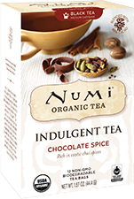 This is the picture of Chocolate Spice under the category NumiTeaStore@Teabag in Numi Organic Tea. Click to add to cart.