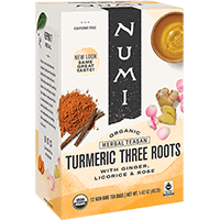 This is the picture of Three Roots under the category NumiTeaStore@ByType@Turmeric in Numi Organic Tea. Click to add to cart.