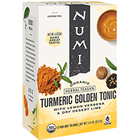 This is the picture of Golden Tonic under the category NumiTeaStore@FairTrade@Turmeric in Numi Organic Tea. Click to add to cart.
