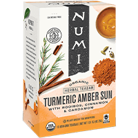 This is the picture of Amber Sun under the category NumiTeaStore@ByType@Turmeric in Numi Organic Tea. Click to add to cart.
