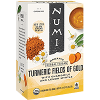 This is the picture of Fields of Gold under the category NumiTeaStore@FairTrade@Turmeric in Numi Organic Tea. Click to add to cart.