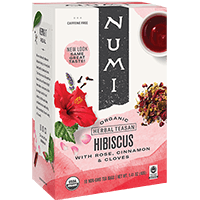 This is the picture of Hibiscus under the category NumiTeaStore@IcedTea@Teabags in Numi Organic Tea. Click to add to cart.
