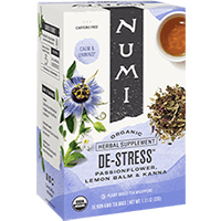 This is the picture of De-Stress under the category NumiTeaStore@ByType@StayHealthy in Numi Organic Tea. Click to add to cart.