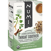 This is the picture of Throat Soother under the category NumiTeaStore@ByType@StayHealthy in Numi Organic Tea. Click to add to cart.