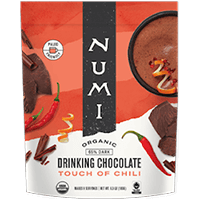This is the picture of Touch of Chili Organic Drinking Chocolate under the category NumiTeaStore@Gifts@DrinkingChocolates in Numi Organic Tea. Click to add to cart.