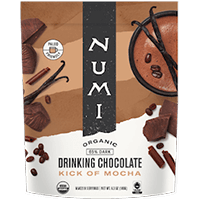 This is the picture of Kick of Mocha Organic Drinking Chocolate under the category NumiTeaStore@Gifts@DrinkingChocolates in Numi Organic Tea. Click to add to cart.