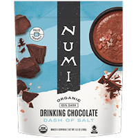 This is the picture of Dash of Salt Organic Drinking Chocolate under the category NumiTeaStore@Gifts@DrinkingChocolates in Numi Organic Tea. Click to add to cart.