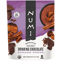 This is the picture of Shroom Power Organic Drinking Chocolate under the category NumiTeaStore@Gifts@DrinkingChocolates in Numi Organic Tea. Click to add to cart.