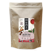 This is the picture of Golden Chai™ (loose) under the category NumiTeaStore@LooseTea@Black in Numi Organic Tea. Click to add to cart.