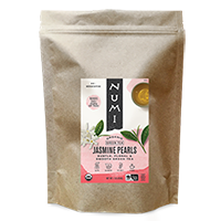 This is the picture of Jasmine Pearls (loose) under the category NumiTeaStore@LooseTea@Green in Numi Organic Tea. Click to add to cart.