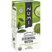 This is the picture of Ceremonial Matcha under the category NumiTeaStore@LooseTea@Matcha in Numi Organic Tea. Click to add to cart.
