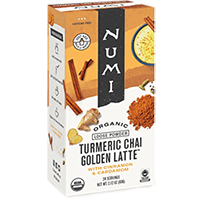 This is the picture of Turmeric Chai under the category NumiTeaStore@LooseTea@TurmericLatte in Numi Organic Tea. Click to add to cart.