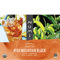 This is the picture of High Mountain Black Ice™ under the category NumiTeaStore@ByType@Black in Numi Organic Tea. Click to add to cart.