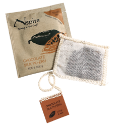 This is the picture of Chocolate Silk Pu-erh  under the category NumiTeaStore@Nspire@Hot in Numi Organic Tea. Click to add to cart.