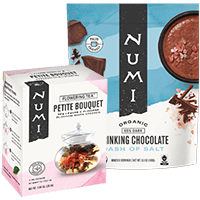 This is the picture of Dash of Salt Chocolate and Flowers Gift Set under the category NumiTeaStore@FloweringTea@Gifts in Numi Organic Tea. Click to add to cart.