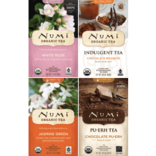 This is the picture of LOVE Chocolate & Flowers Variety Bundle  under the category NumiTeaStore@Teabag in Numi Organic Tea. Click to add to cart.